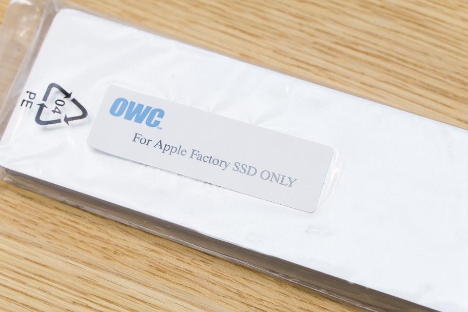 Envoyが入っている袋にはアップルのファクトリーSSDだけ入れろ的な事が書いてある
