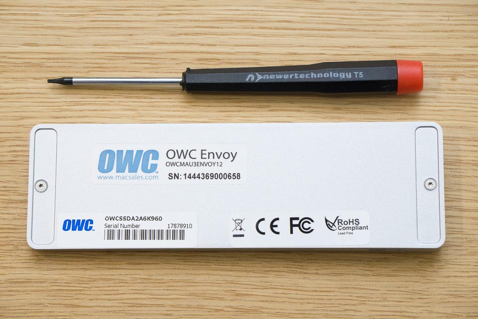 OWC EnvoyのネジはT5