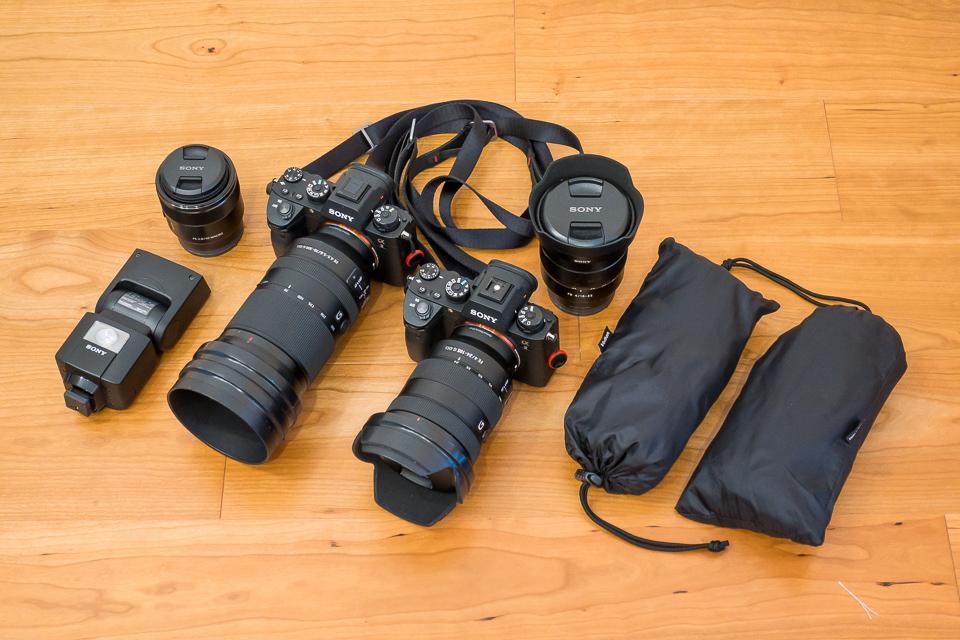 今回収納した撮影機材たち